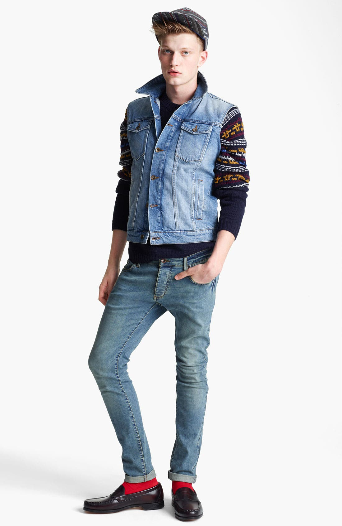 Alternate Image 4  - Topman Denim Vest