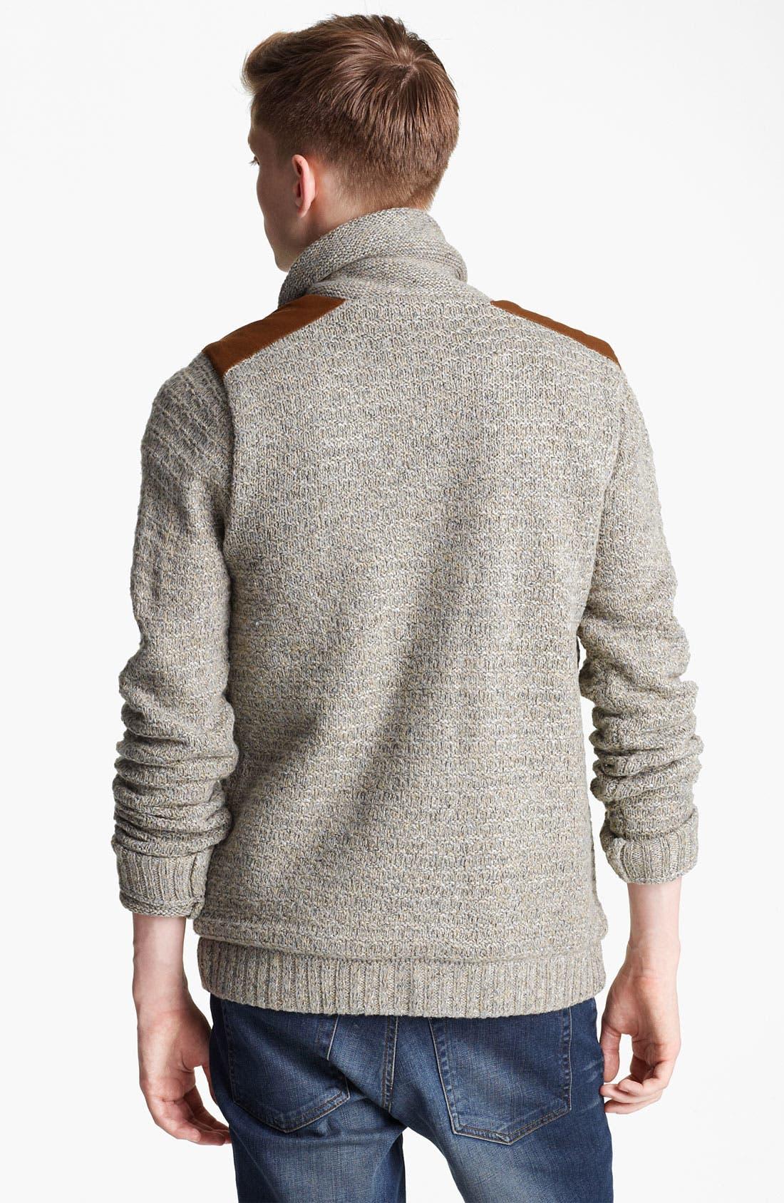 Alternate Image 2  - Topman 'Borg' Shawl Collar Cardigan