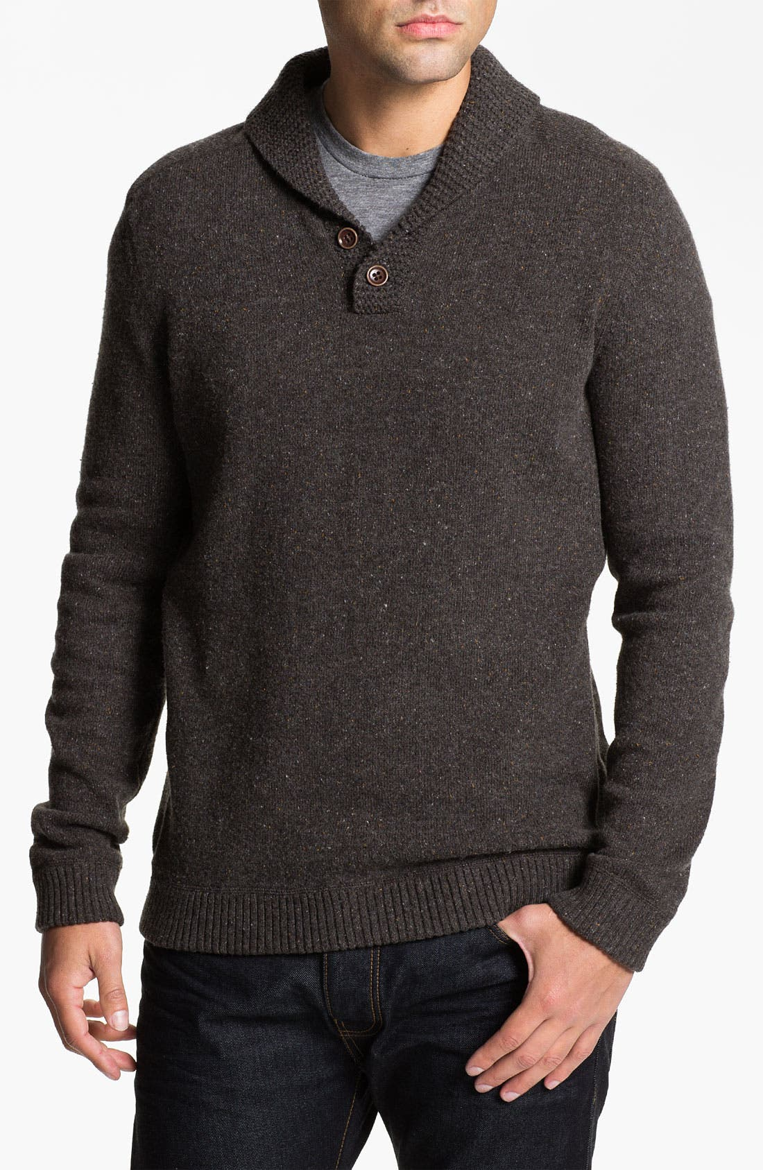 Alternate Image 1 Selected - Ted Baker London 'Tugowar' Shawl Collar Sweater