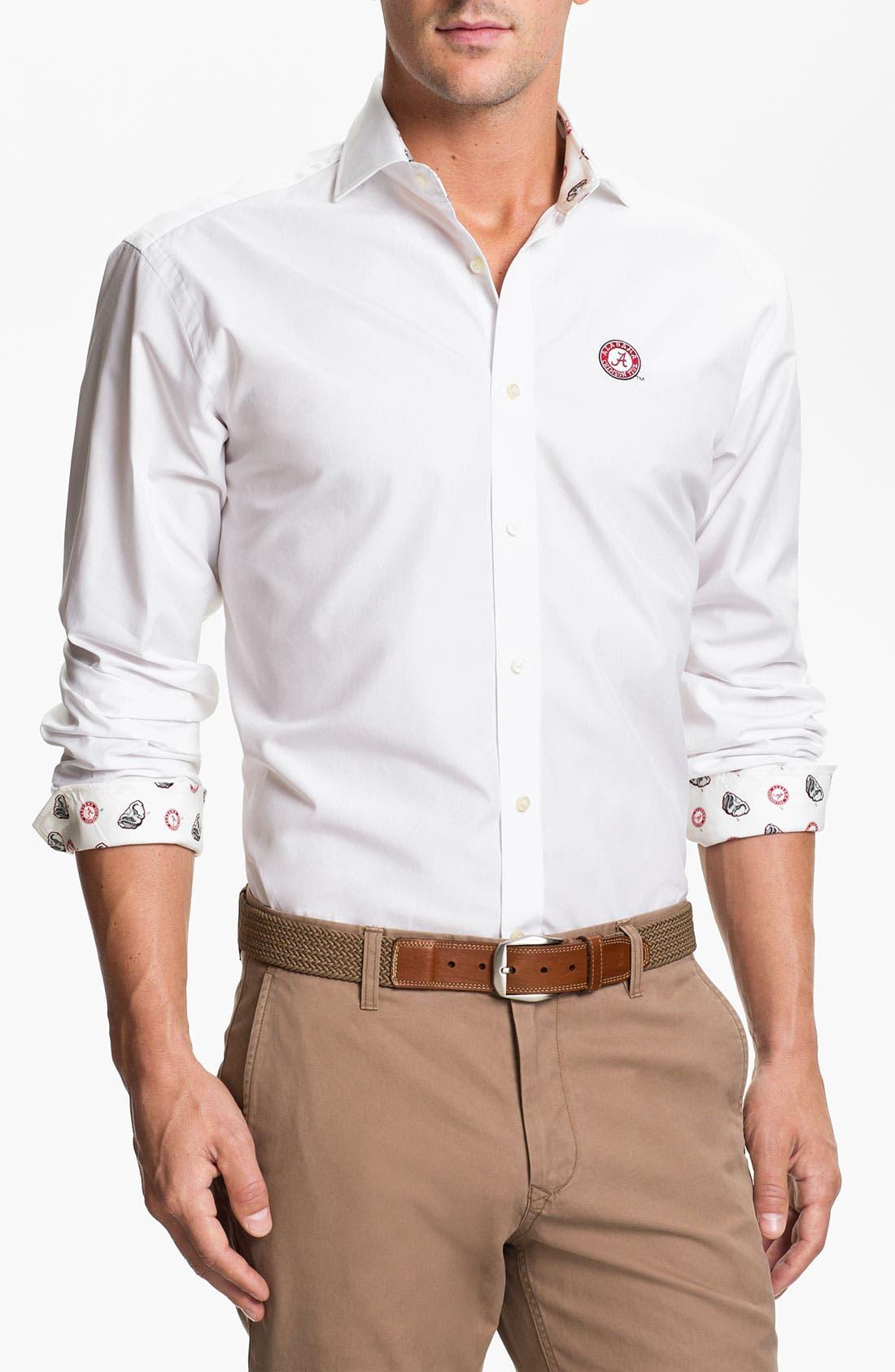 Alternate Image 1 Selected - Thomas Dean 'University of Alabama' Regular Fit Sport Shirt
