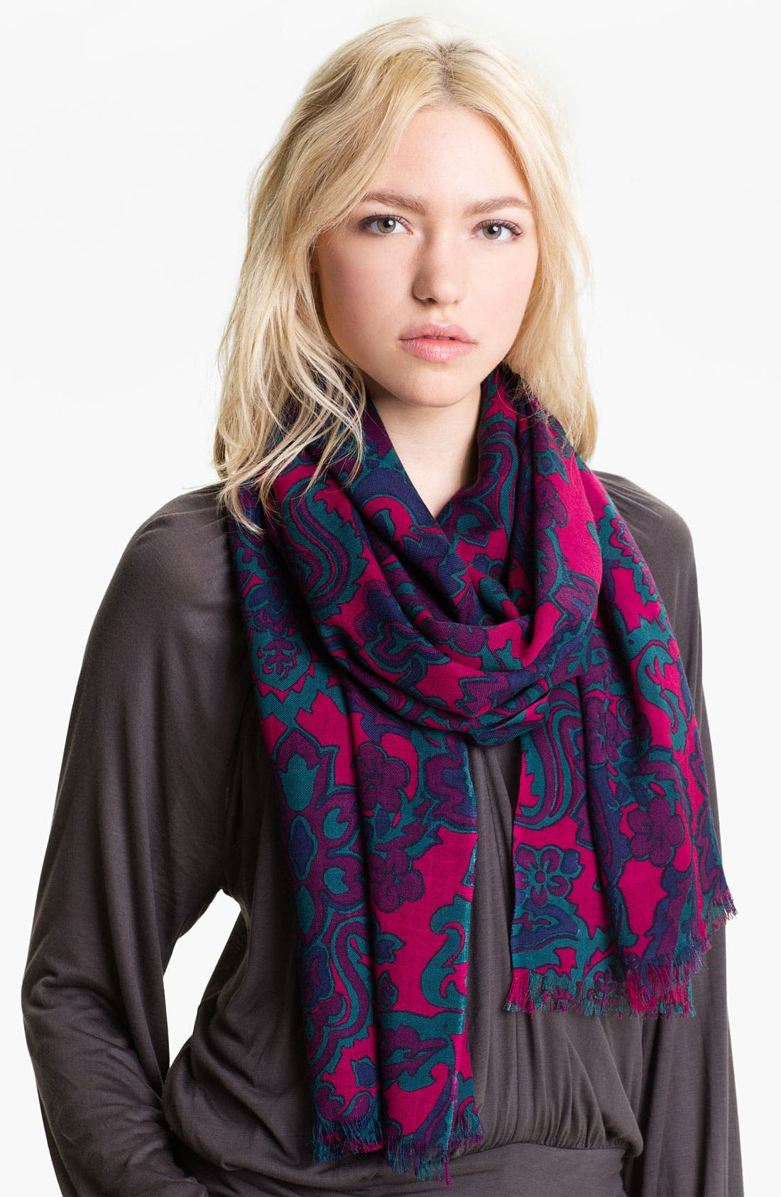 Alternate Image 1 Selected - Tory Burch Wool Ascot Scarf