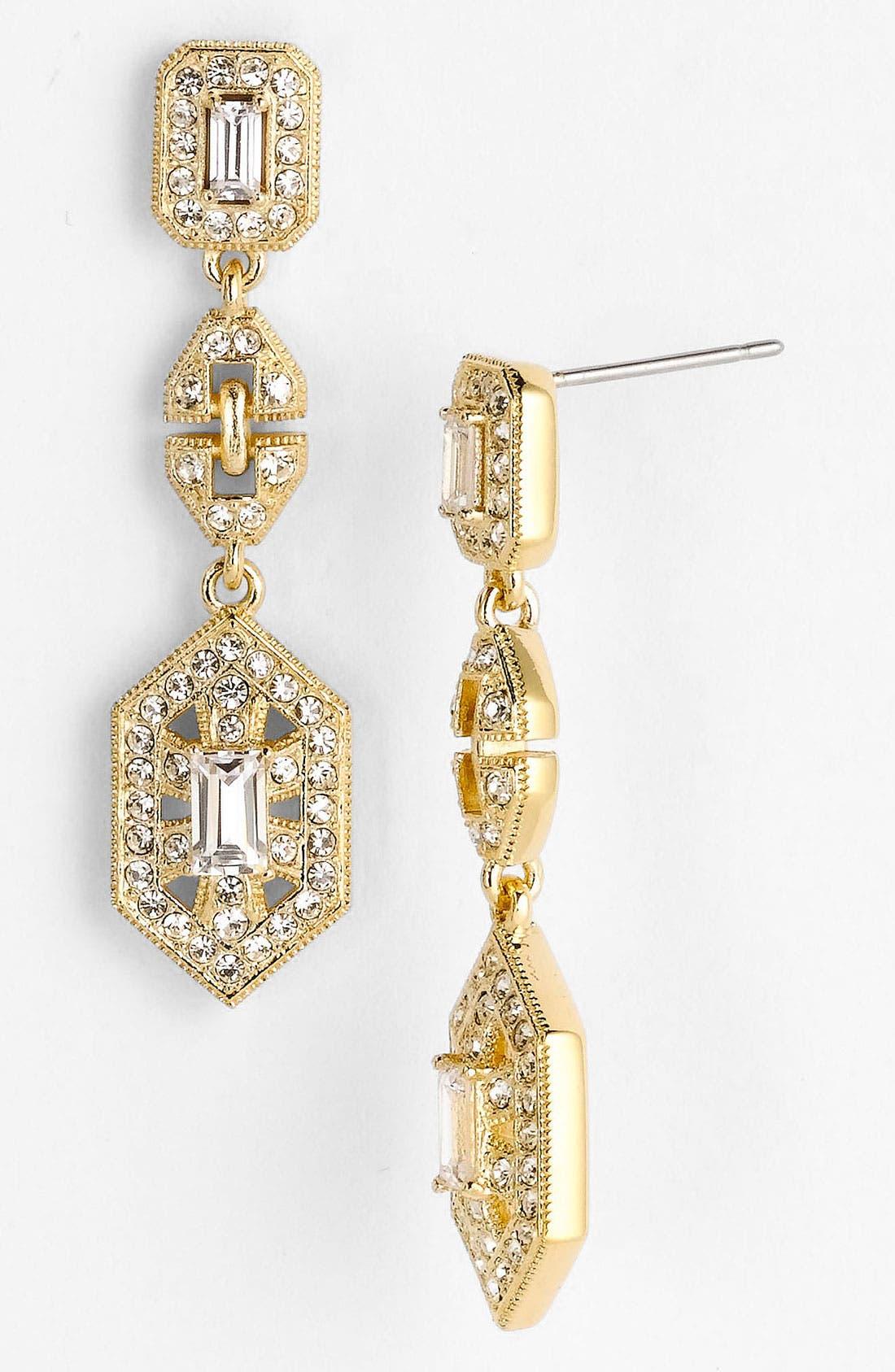 Main Image - Nadri 'Art Deco' Linear Earrings (Nordstrom Exclusive)