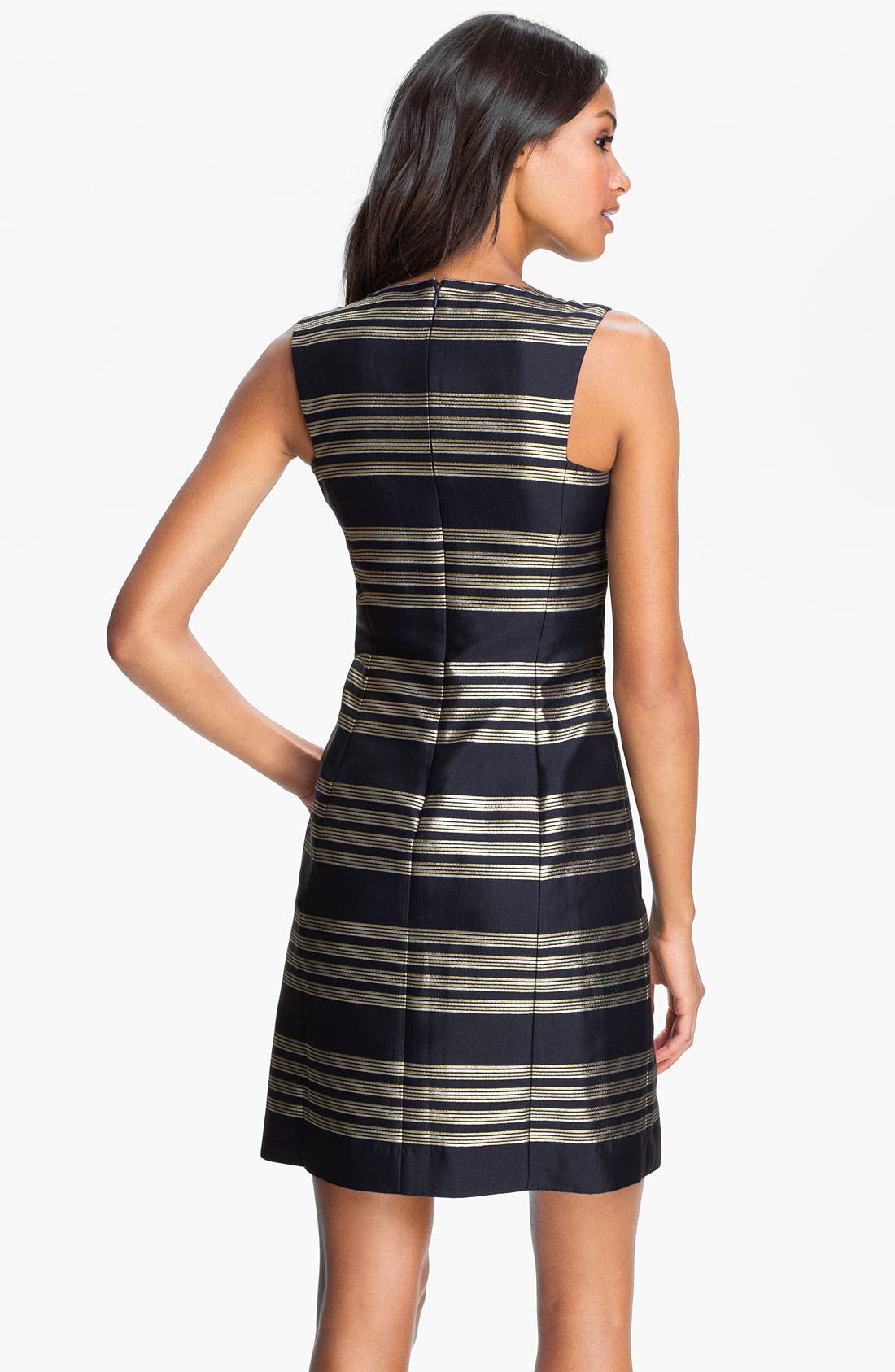 Alternate Image 2  - Lilly Pulitzer® Beaded Neck Metallic Stripe Sheath Dress