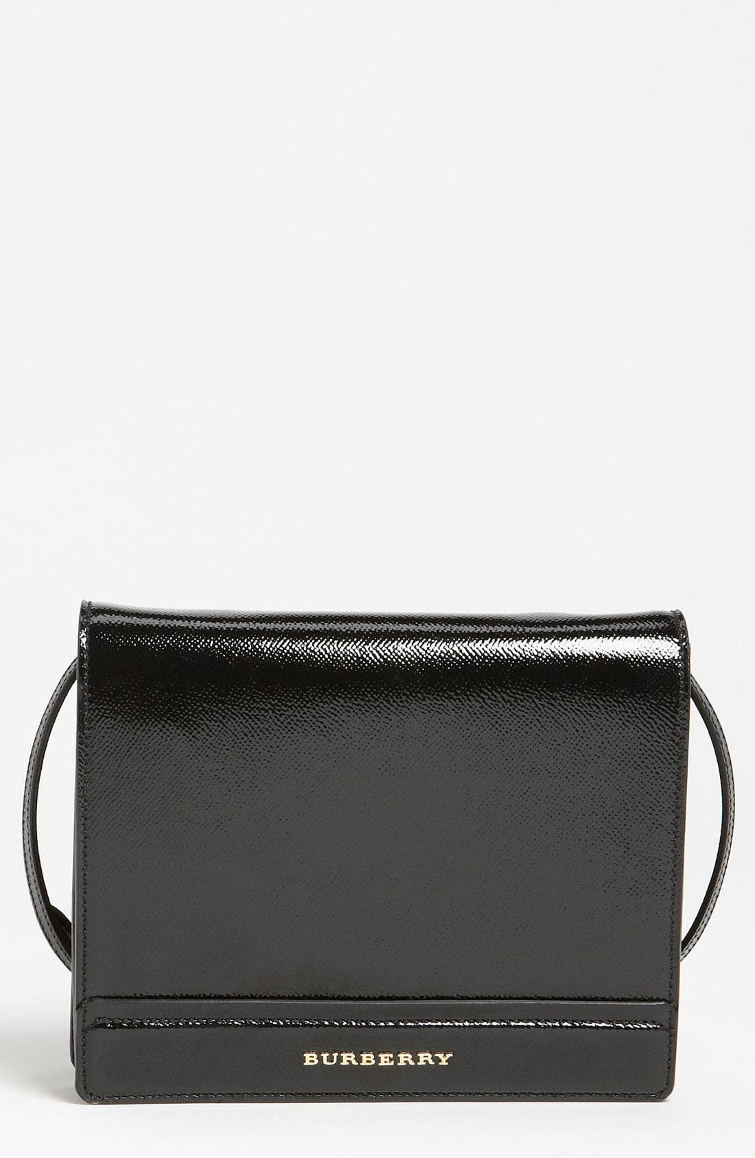 Main Image - Burberry Patent Leather Crossbody Bag