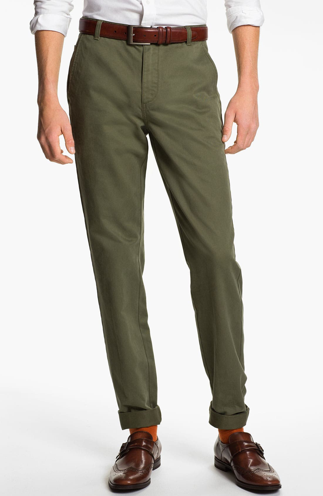 Main Image - Brooks Brothers 'University' Slim Fit Chinos