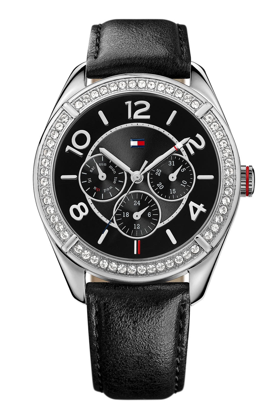 Alternate Image 1 Selected - Tommy Hilfiger Leather Strap Watch