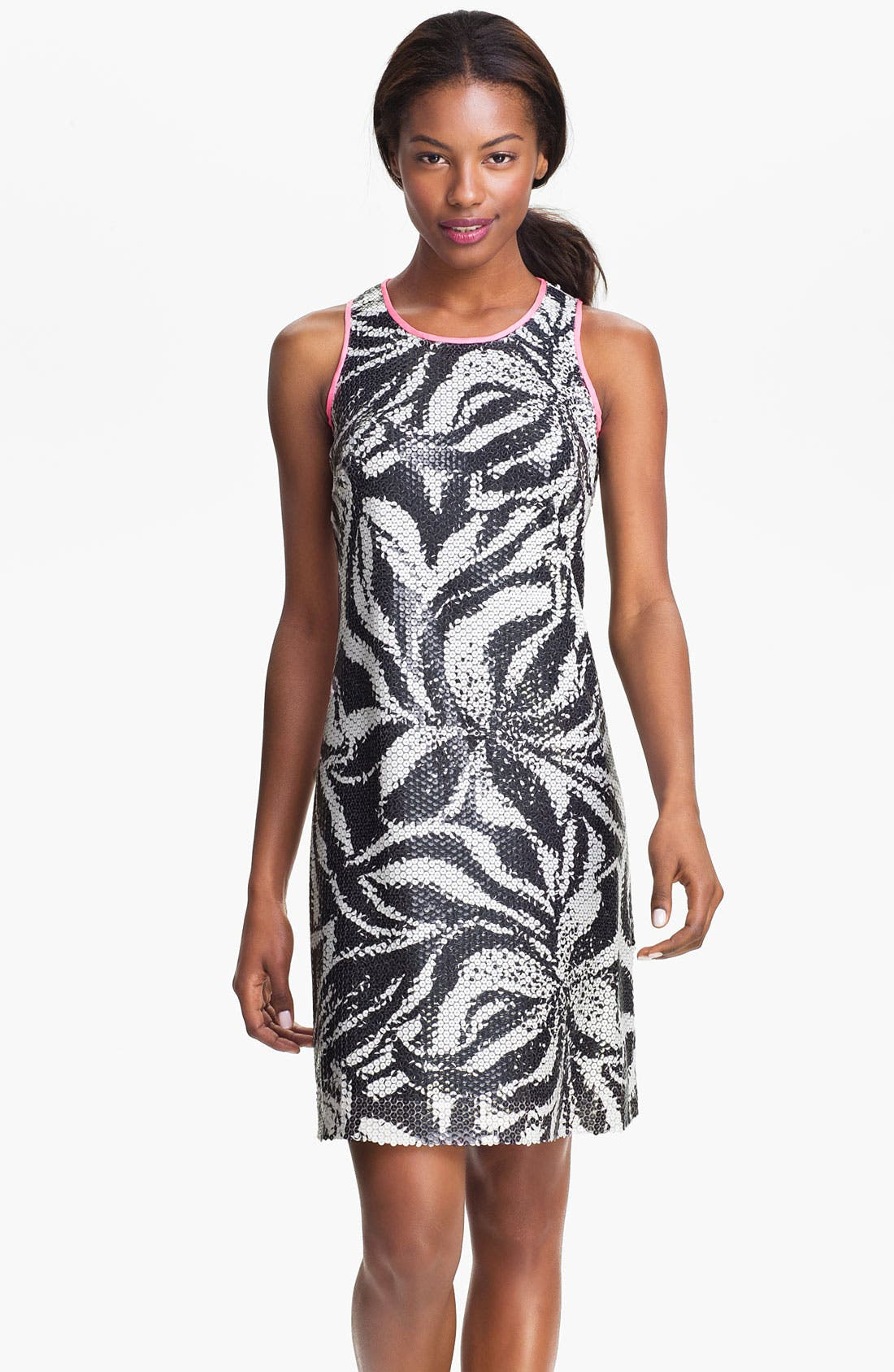Main Image - Lilly Pulitzer® 'Courtin' Contrast Trim Sequin Tank Dress