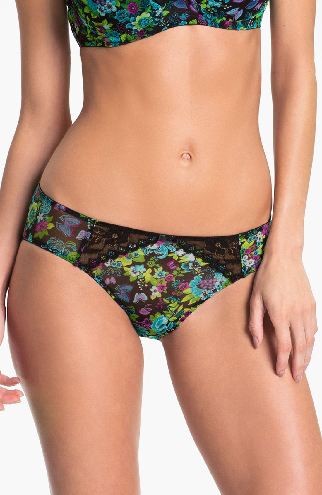 Alternate Image 1 Selected - Betsey Johnson Mesh & Lace Bikini