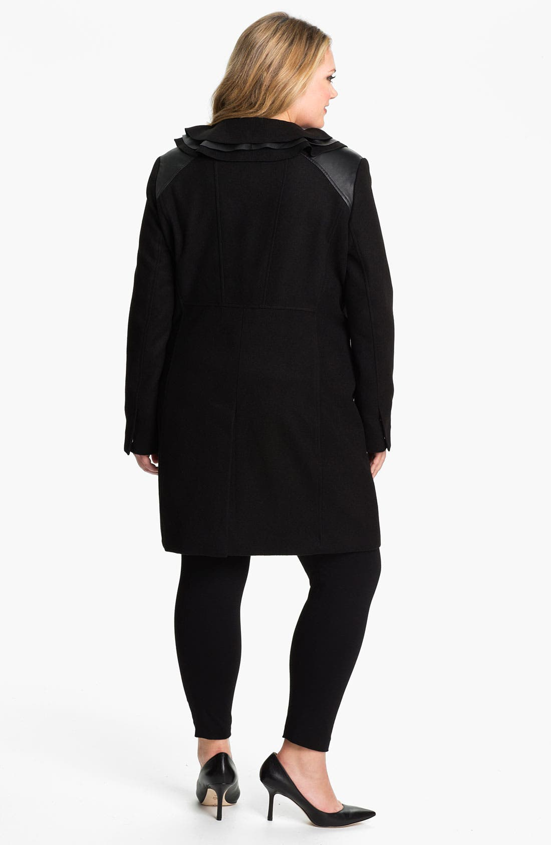 Alternate Image 2  - Tahari Woman 'Millicent' Coat (Plus)
