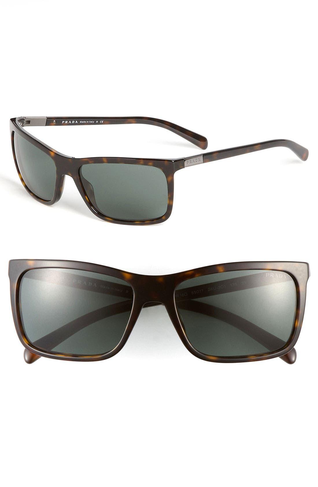 Alternate Image 1 Selected - Prada 'P-Plaque' 59mm Sunglasses