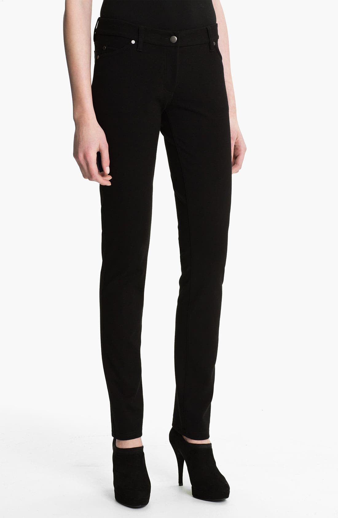 Alternate Image 1 Selected - Eileen Fisher 'Rock Star' Stretch Ponte Jeans (Regular & Petite)