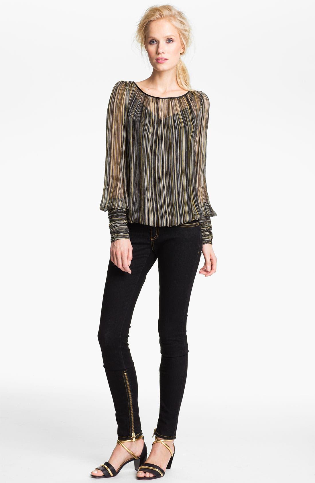 Alternate Image 1 Selected - Rachel Zoe 'Sabina' Multicolor Stripe Silk Blouse