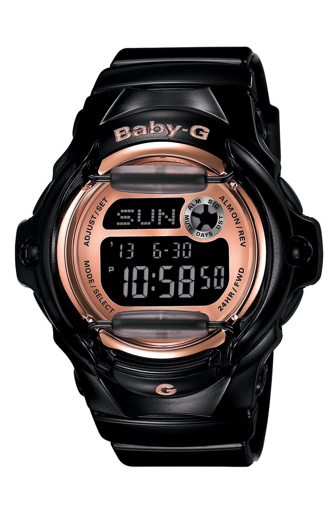 Alternate Image 1 Selected - Baby-G Pink Dial Digital Watch, 46mm x 42mm