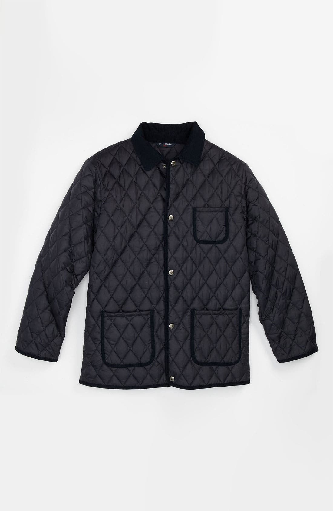 Alternate Image 1 Selected - Brooks Brothers Quilted Jacket (Big Boys)