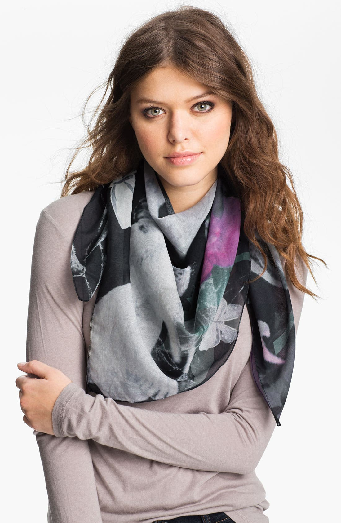 Main Image - Front Row Society 'Meet in the Park at Night' Cotton & Silk Scarf
