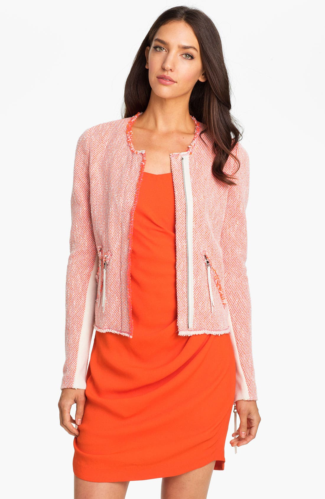 Main Image - Rebecca Taylor Neon Tweed Jacket