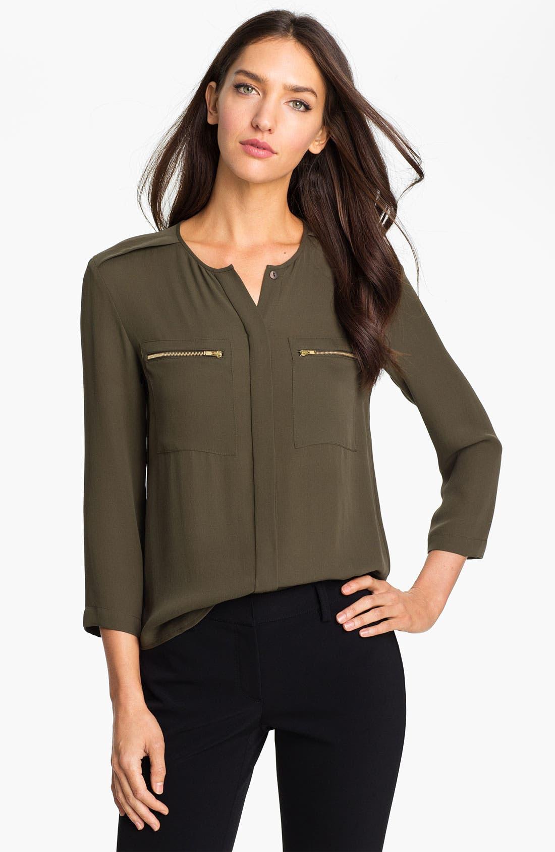 Alternate Image 1 Selected - Theory 'Brundia' Silk Shirt