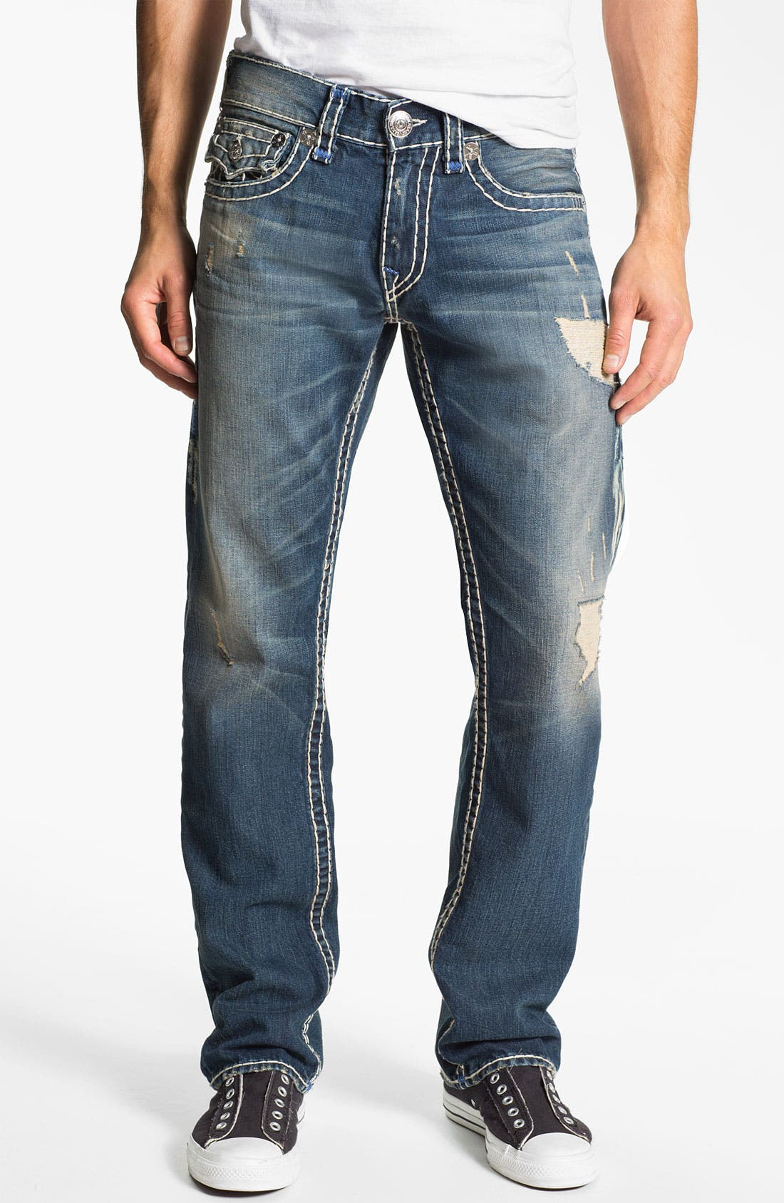 Alternate Image 2  - True Religion Brand Jeans 'Ricky' Straight Leg Jeans (Old Country)