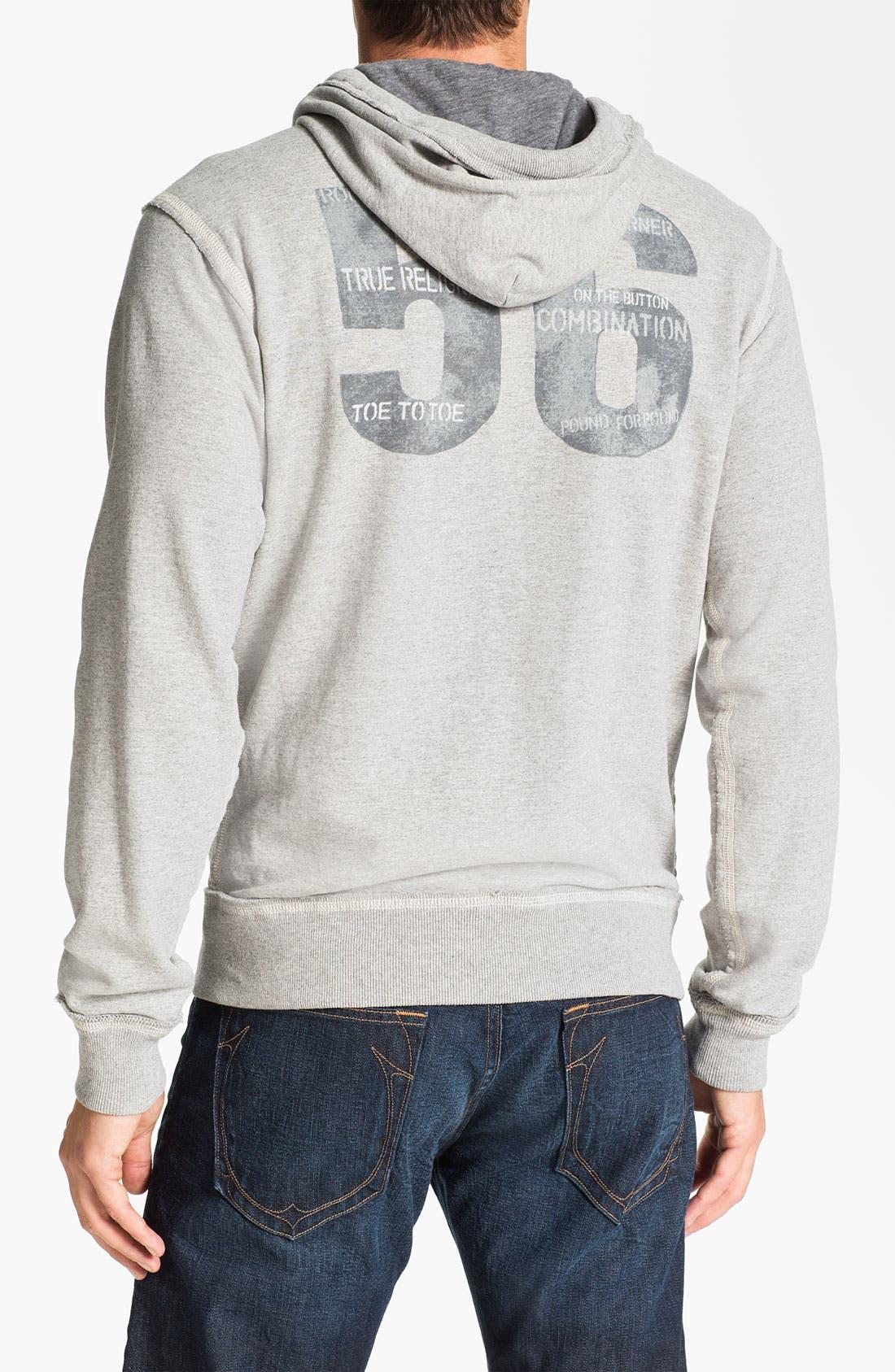 Alternate Image 2  - True Religion Brand Jeans 'Hell's Kitchen' Graphic Zip Hoodie