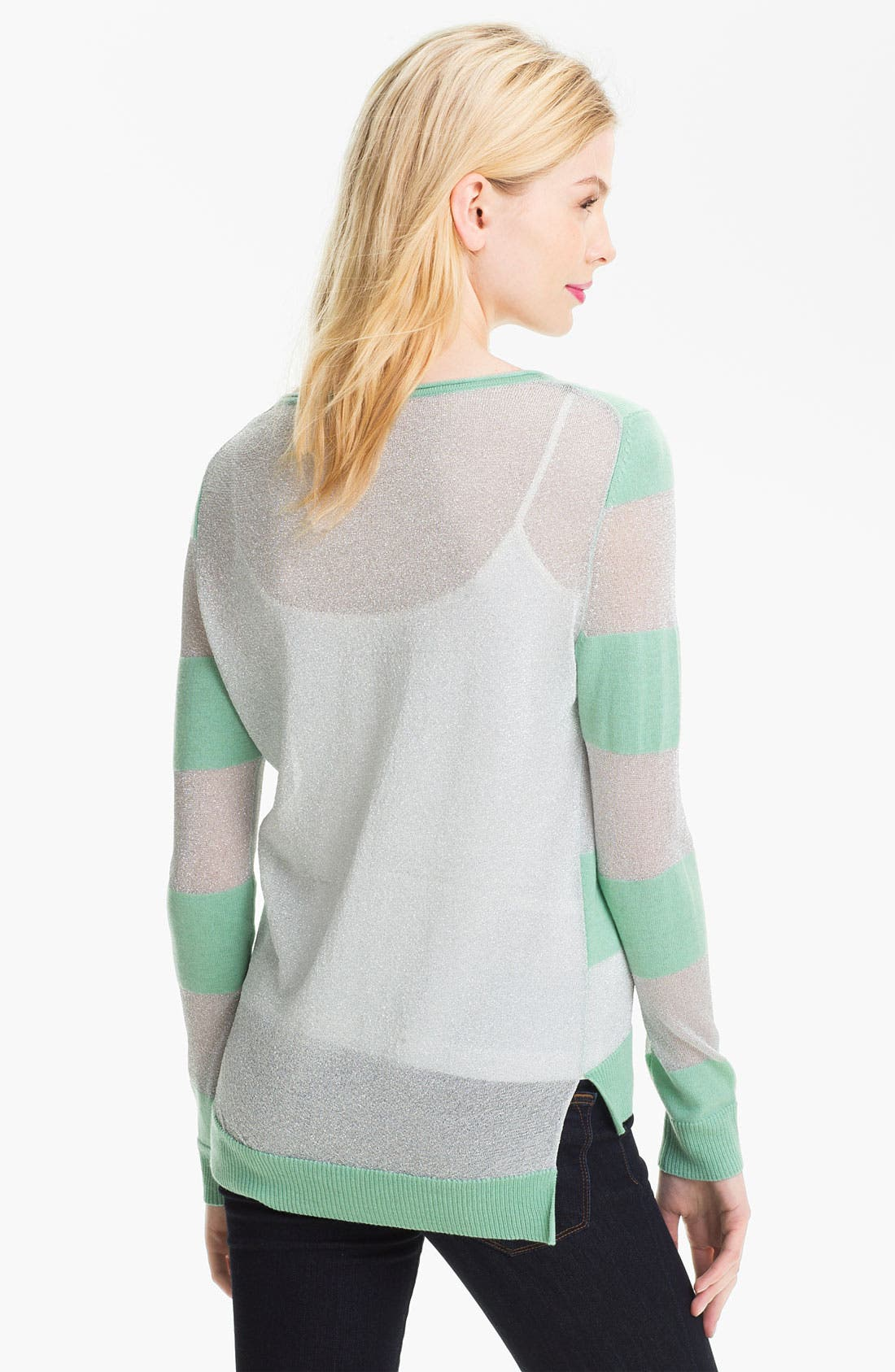 Alternate Image 2  - Vince Camuto Shimmer Stripe Knit Sweater
