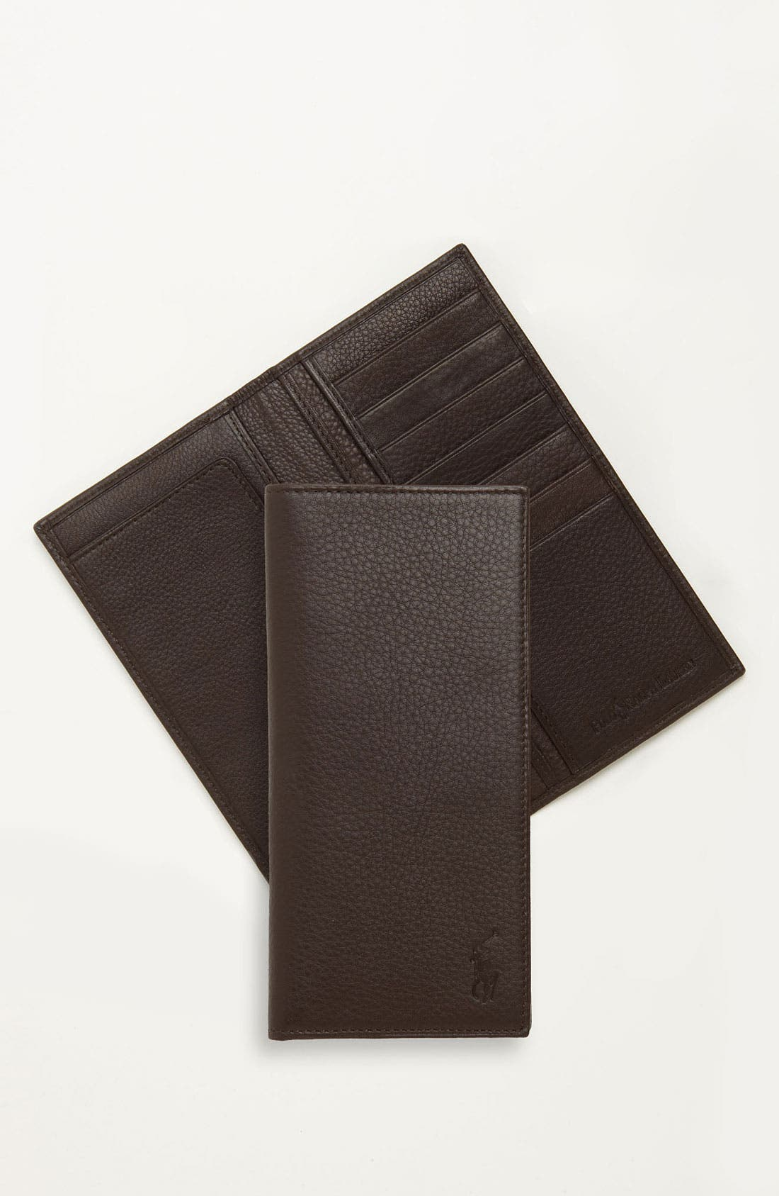 Narrow Wallet,                         Main,                         color, Brown