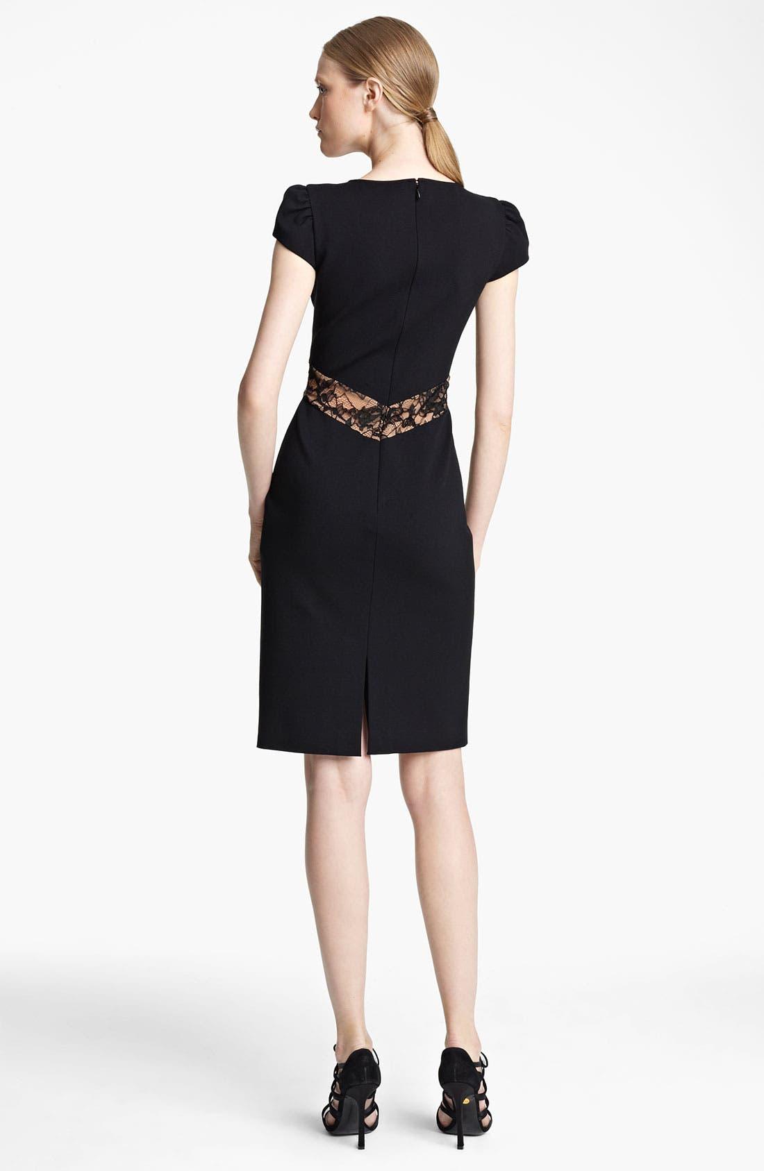 Alternate Image 2  - Emilio Pucci Crisscross Lace Punto Milano Dress