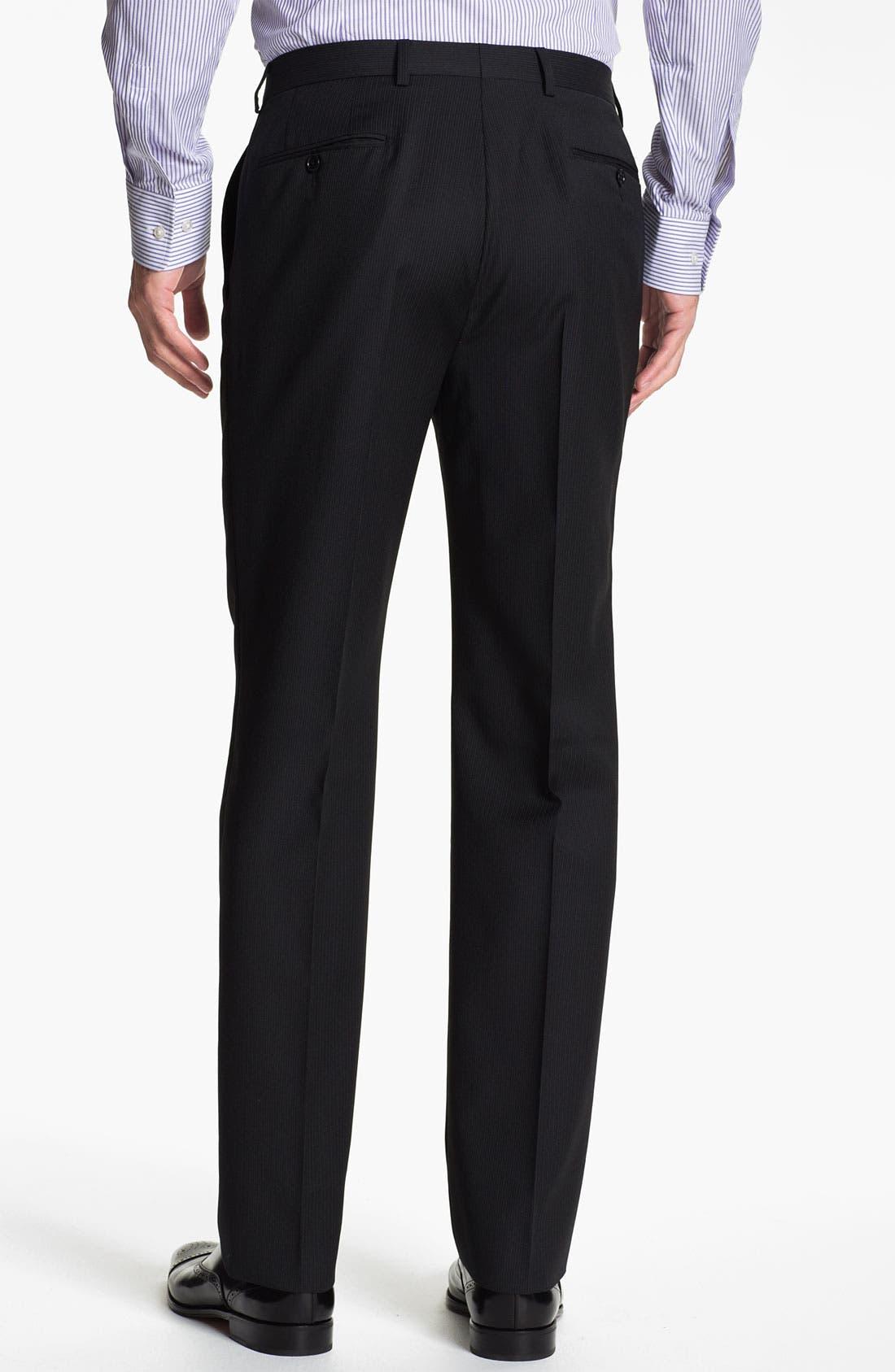 Alternate Image 5  - John Varvatos Star USA 'Berkley' Trim Fit Stripe Suit