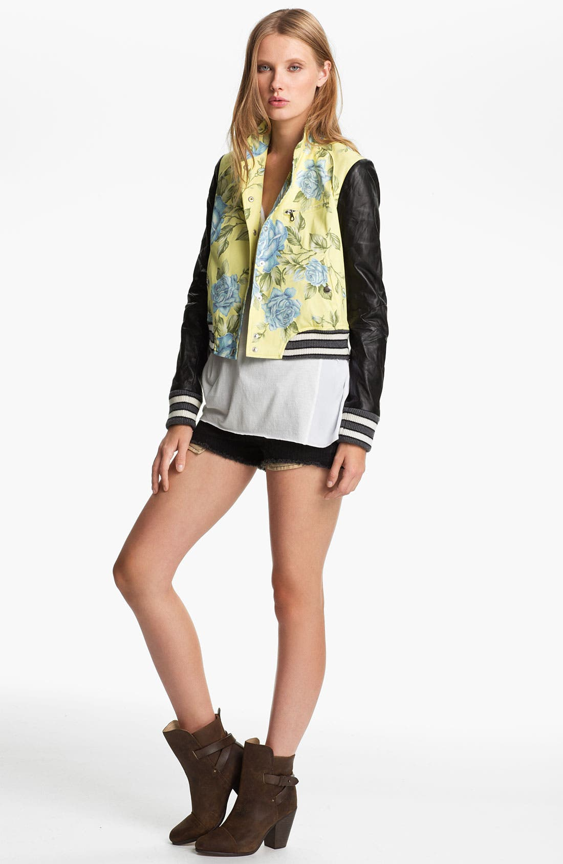 Main Image - rag & bone 'Cambridge' Floral Print Jacket