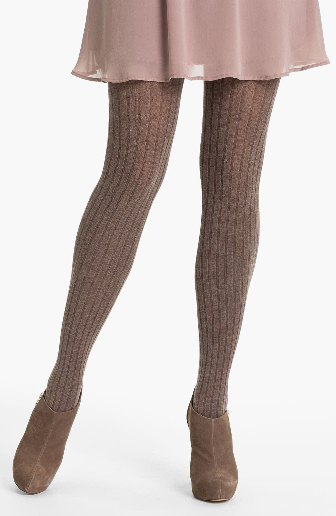 Alternate Image 1 Selected - Oroblu 'Angela' Ribbed Cotton Tights