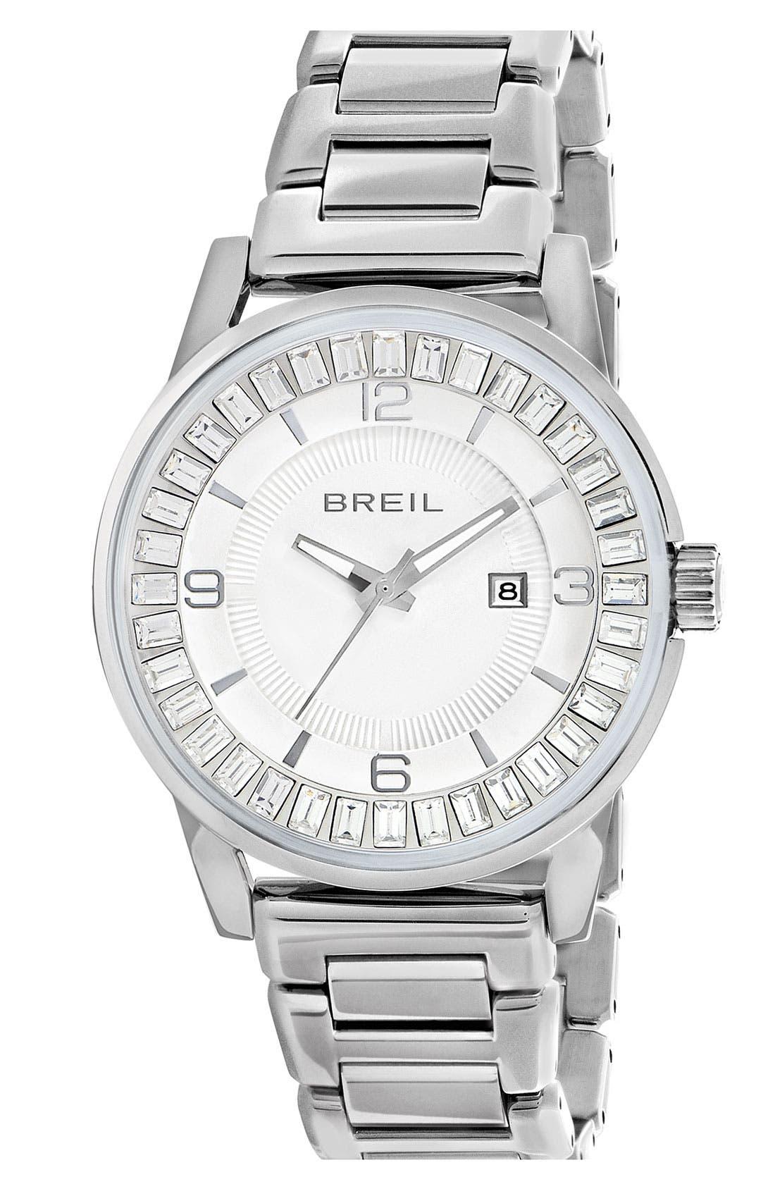Main Image - Breil 'Orchestra' Baguette Crystal Bracelet Watch, 40mm
