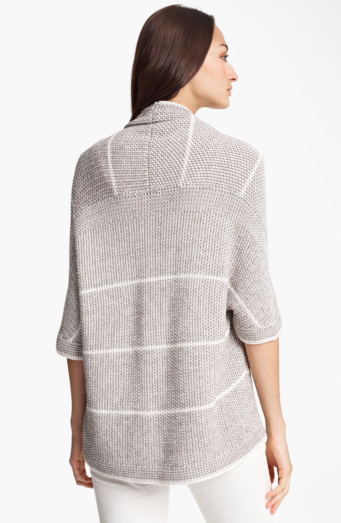 Alternate Image 2  - Fabiana Filippi Stripe Crochet Cardigan