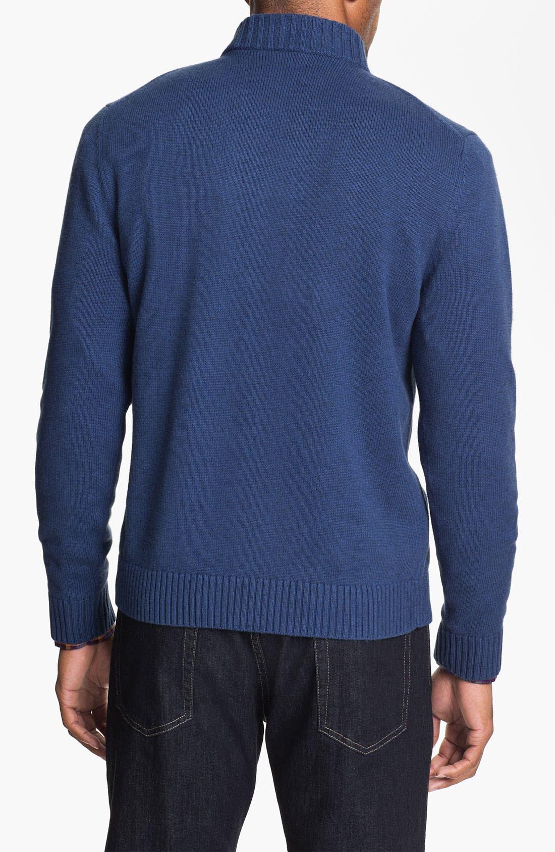 Alternate Image 2  - Robert Talbott Half Zip Cotton & Cashmere Sweater