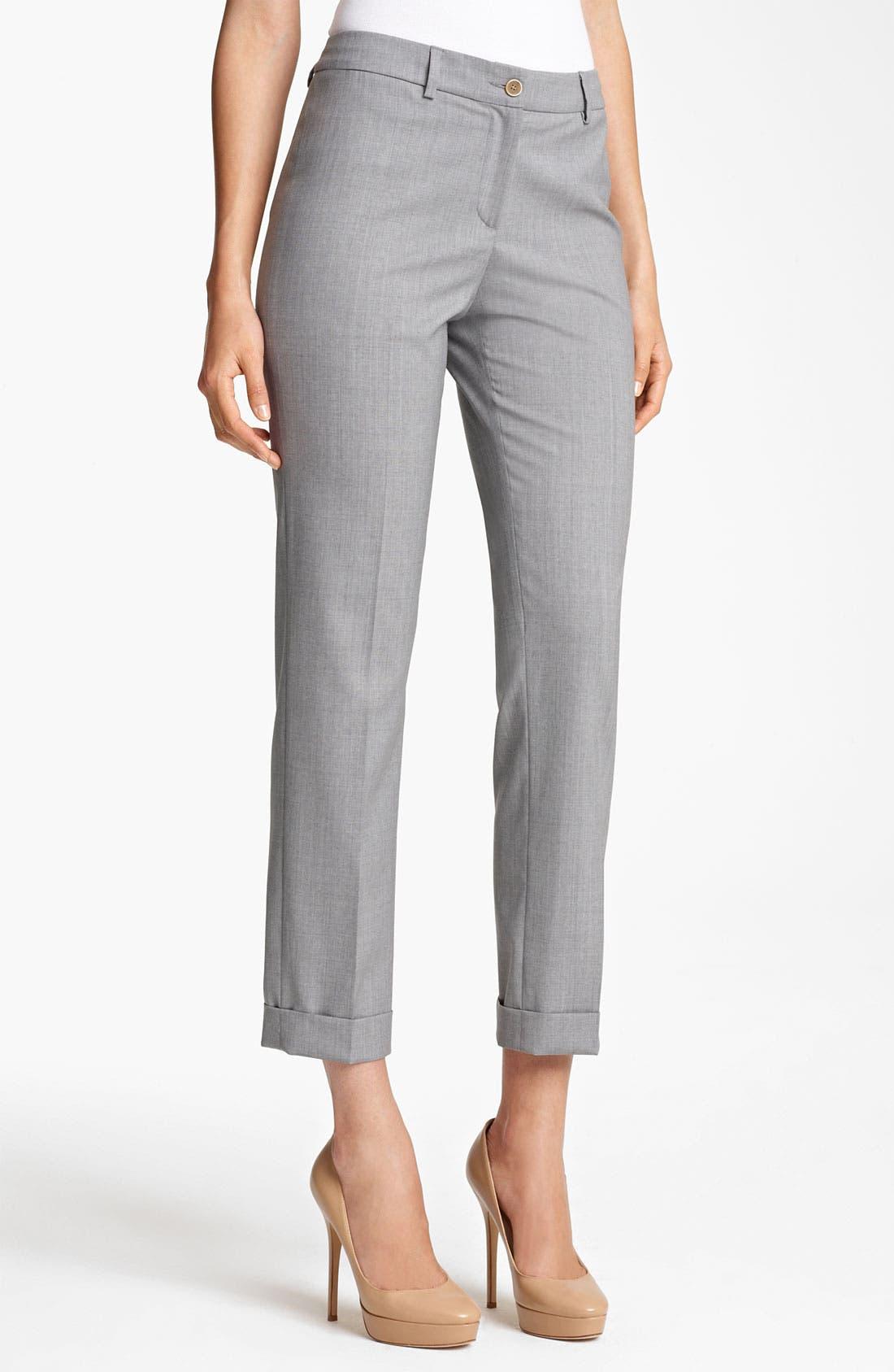 Alternate Image 1 Selected - Fabiana Filippi Lightweight Wool Crop Pants