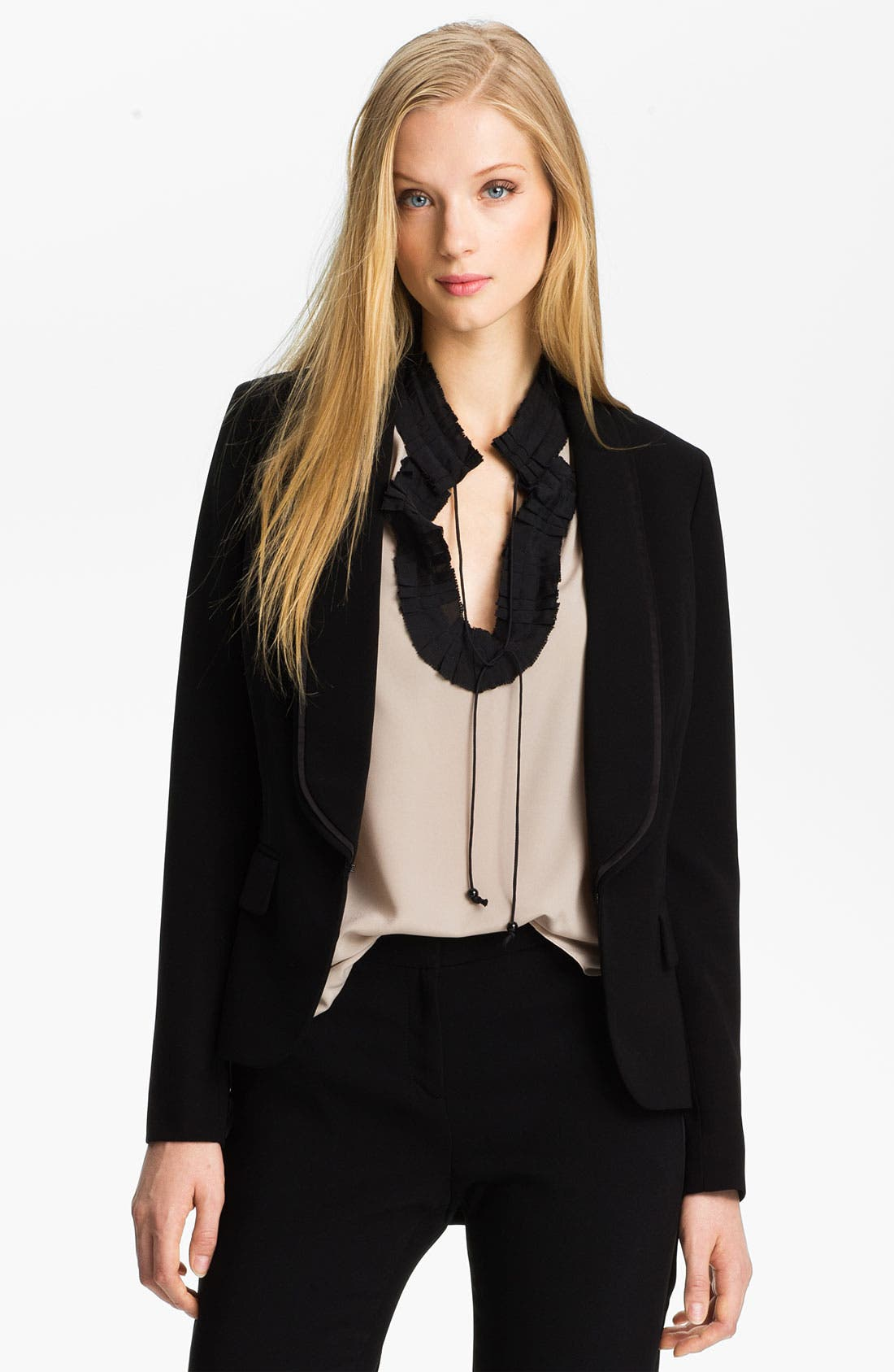 Alternate Image 1 Selected - Anne Klein Tuxedo Jacket (Petite)