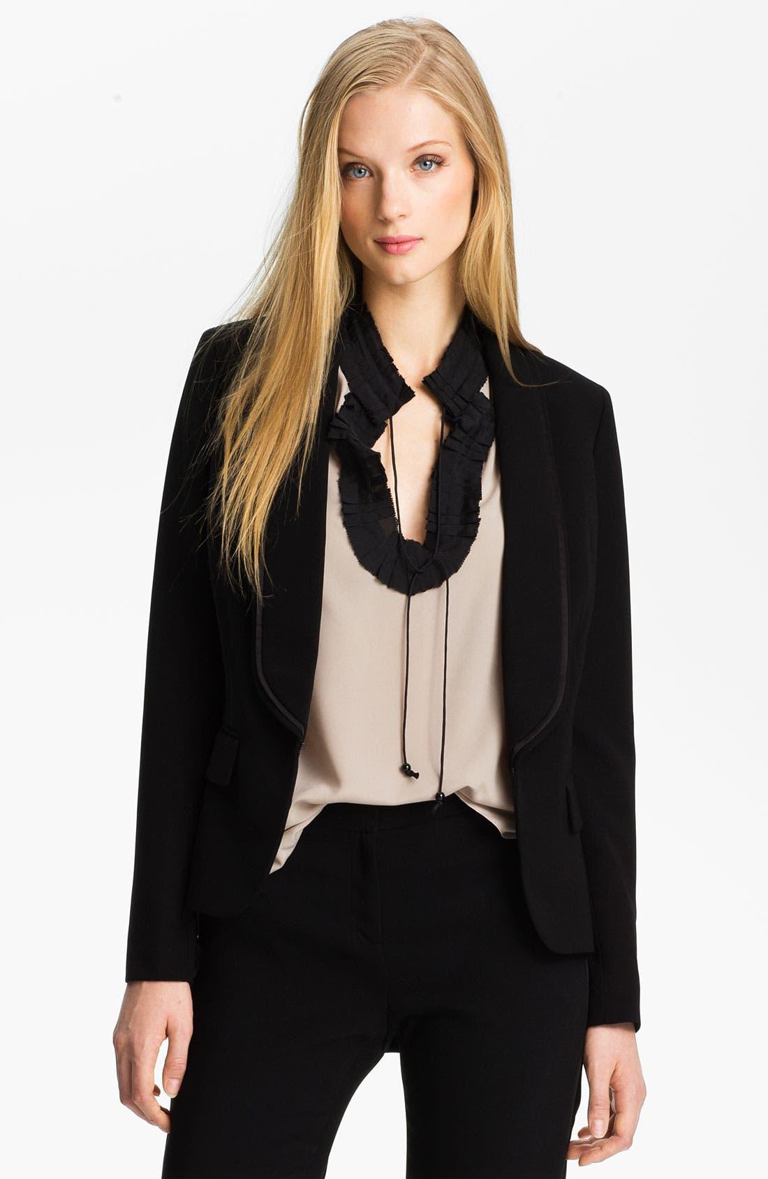 Main Image - Anne Klein Tuxedo Jacket (Petite)
