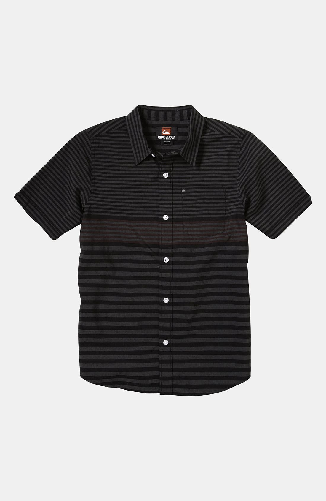 Alternate Image 1 Selected - Quiksilver 'Moving Seats' Woven Shirt (Big Boys)