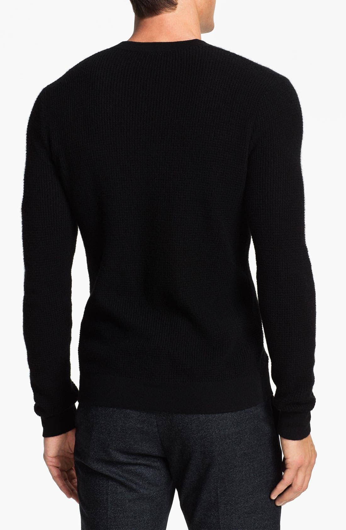 Alternate Image 2  - Theory Waffle Knit Cashmere Crewneck Sweater