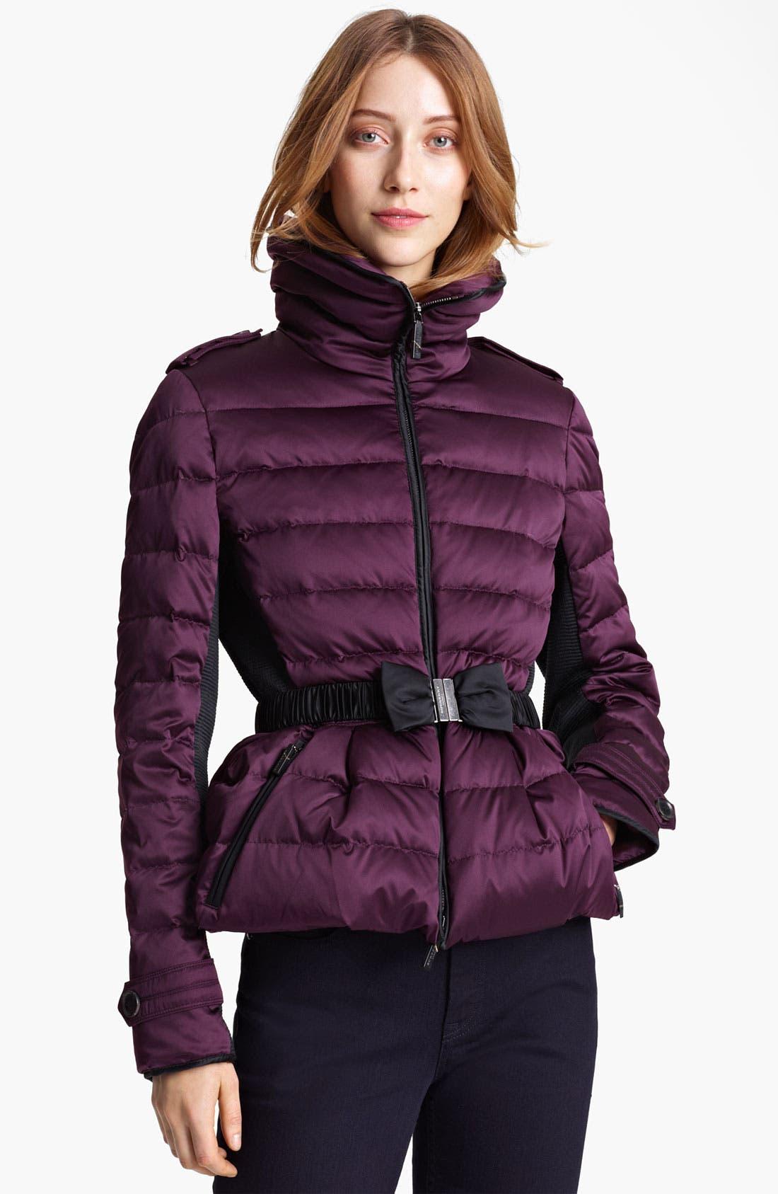 Main Image - Burberry London Bow Belt Puffer Jacket