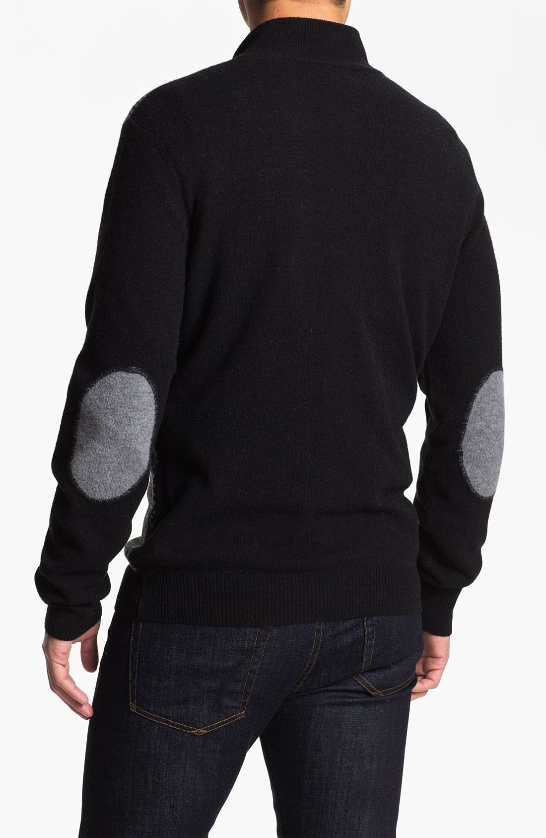 Alternate Image 2  - Franco Danti Wool Half Zip Sweater