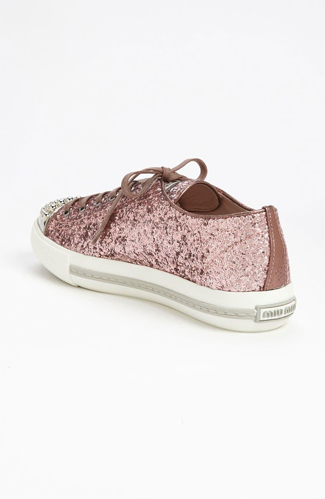 Alternate Image 2  - Miu Miu Glitter Cap Toe Sneaker