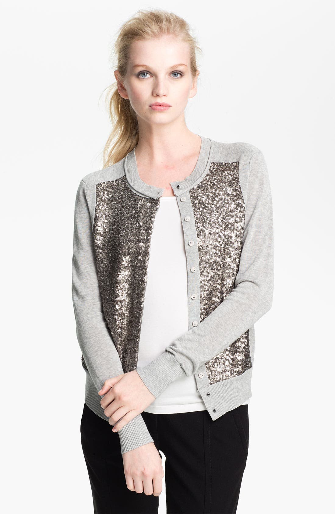 Alternate Image 1 Selected - Diane von Furstenberg 'Paryse Bis' Sequin Cardigan