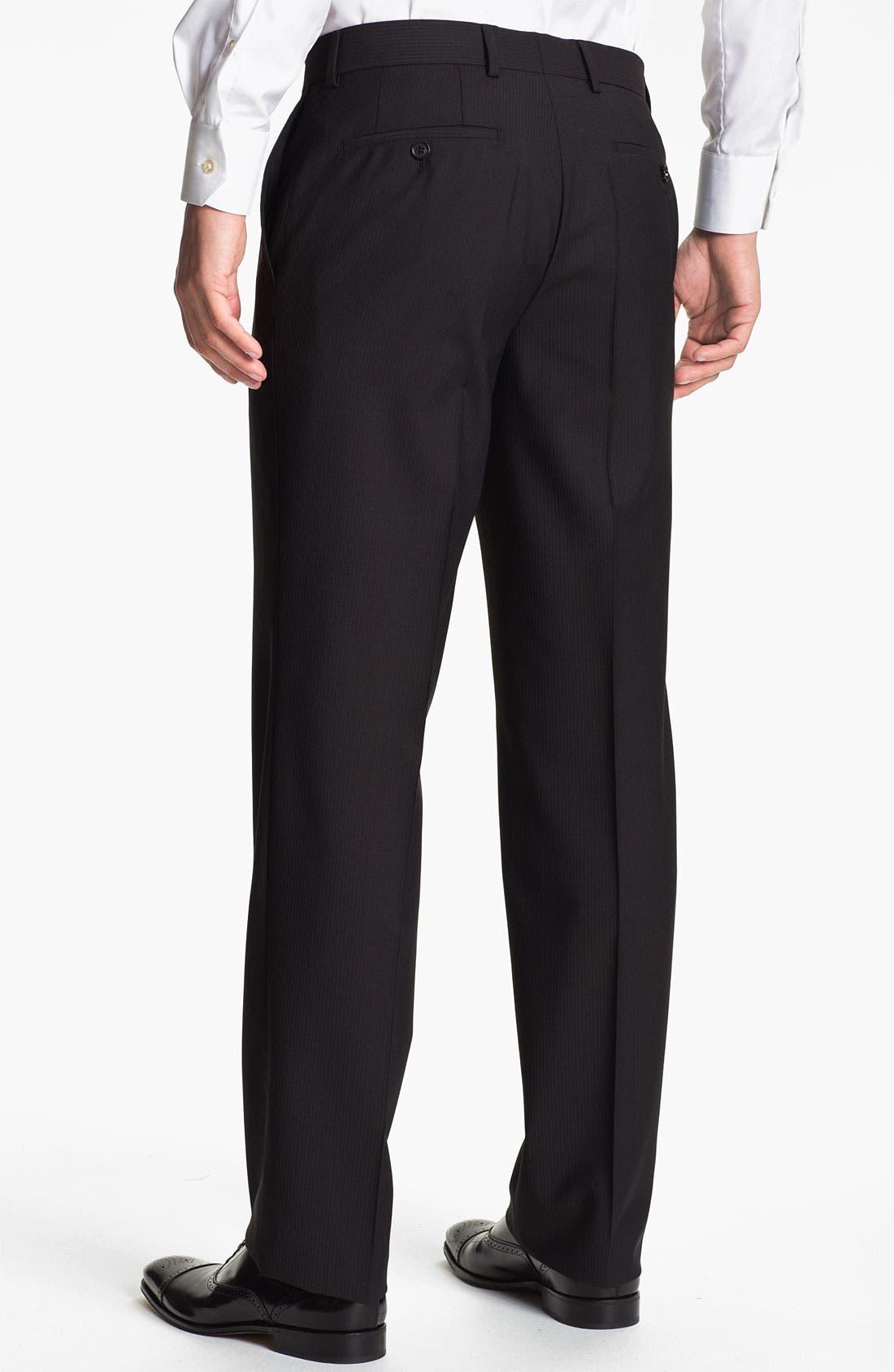 Alternate Image 2  - BOSS Black 'James Brown' Stripe Wool Trousers