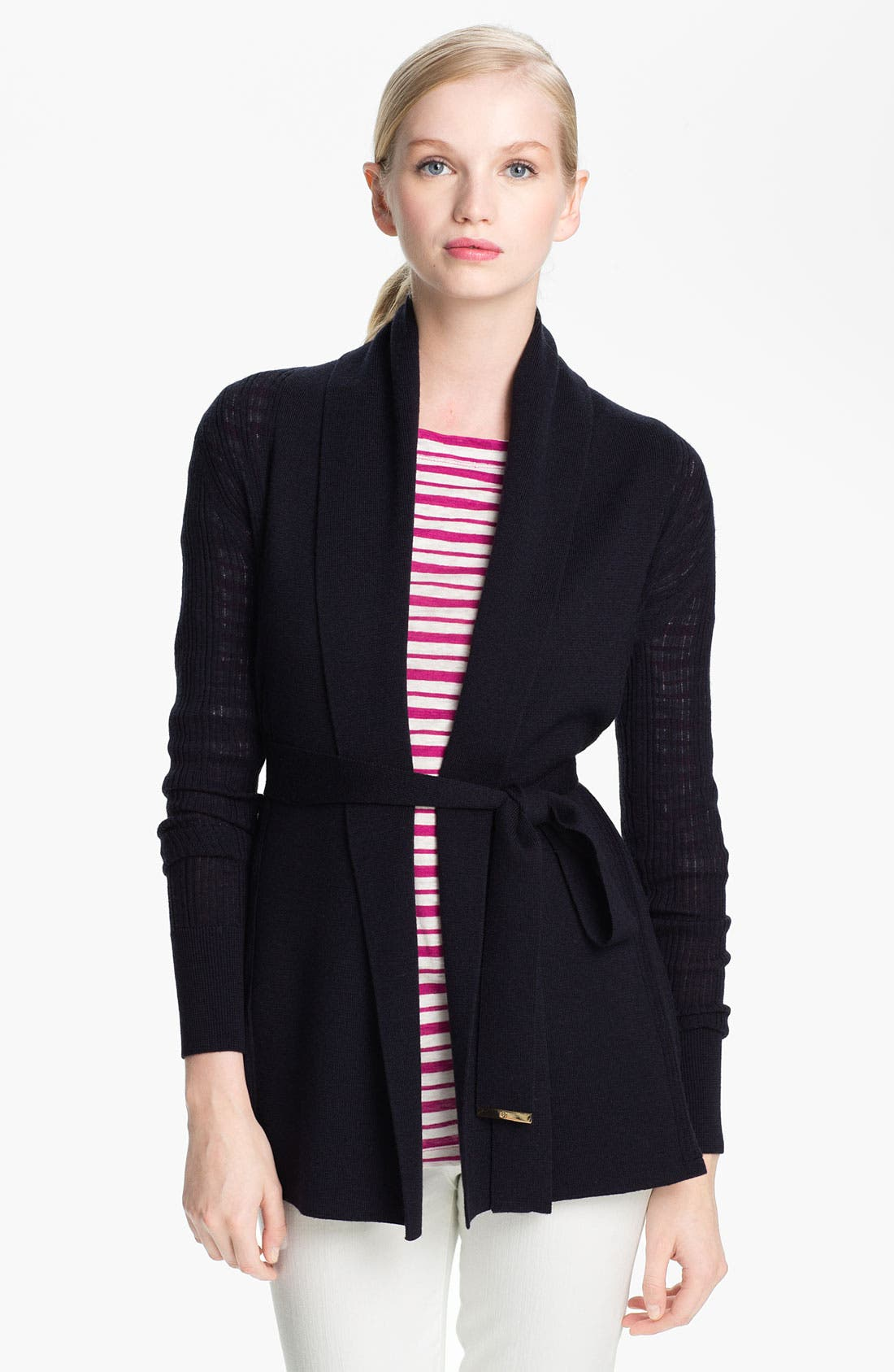 Alternate Image 1 Selected - Tory Burch 'Natalie' Merino Wool Cardigan
