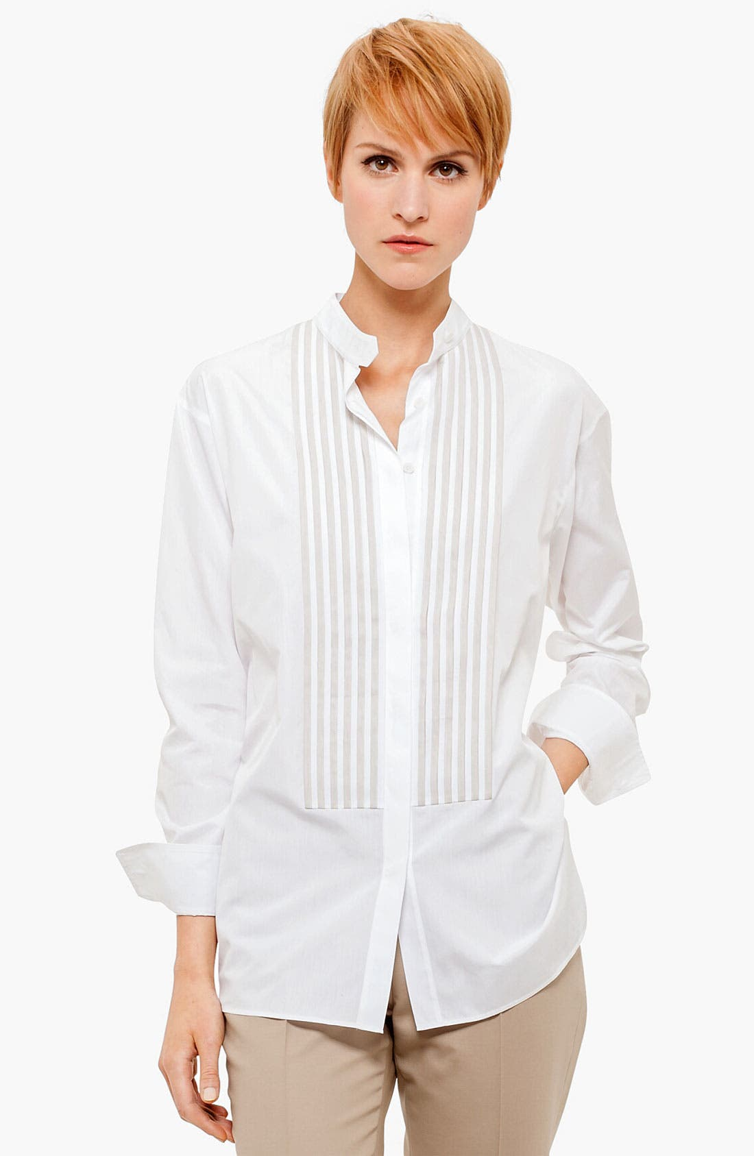 Alternate Image 1 Selected - Akris punto Pleat Detail Blouse