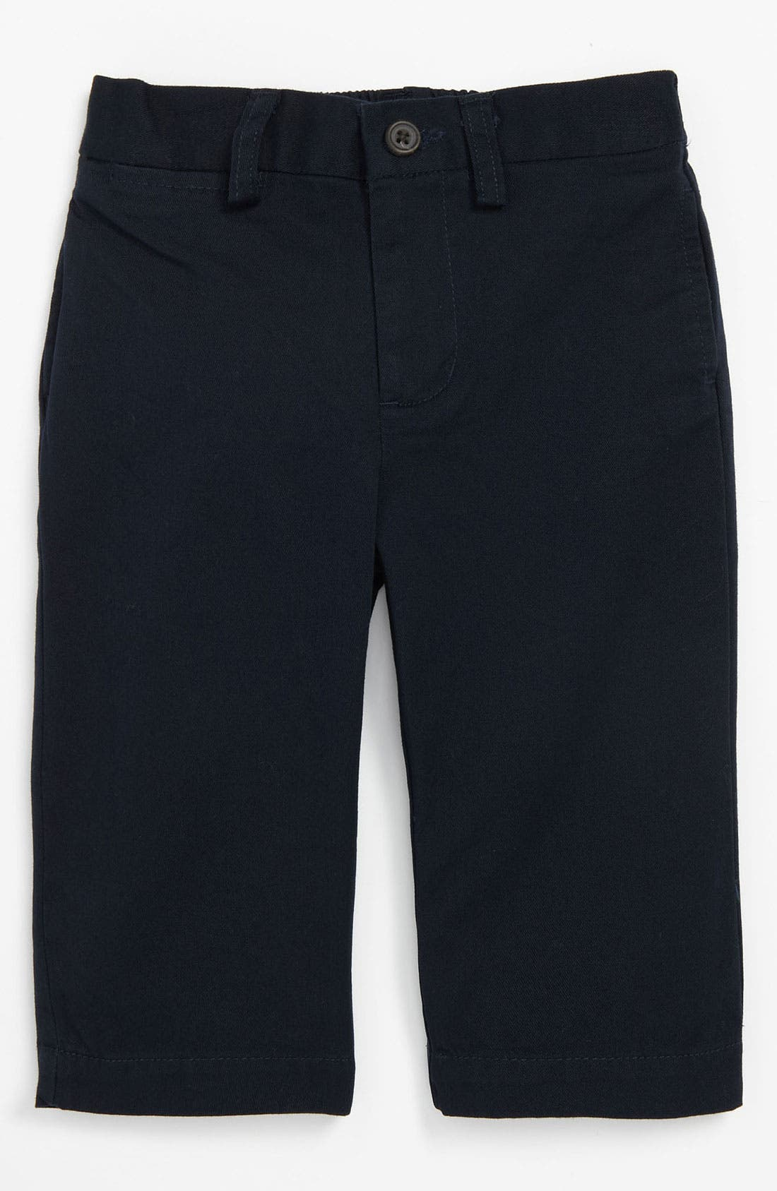 Alternate Image 1 Selected - Ralph Lauren Flat Front Pants (Baby)