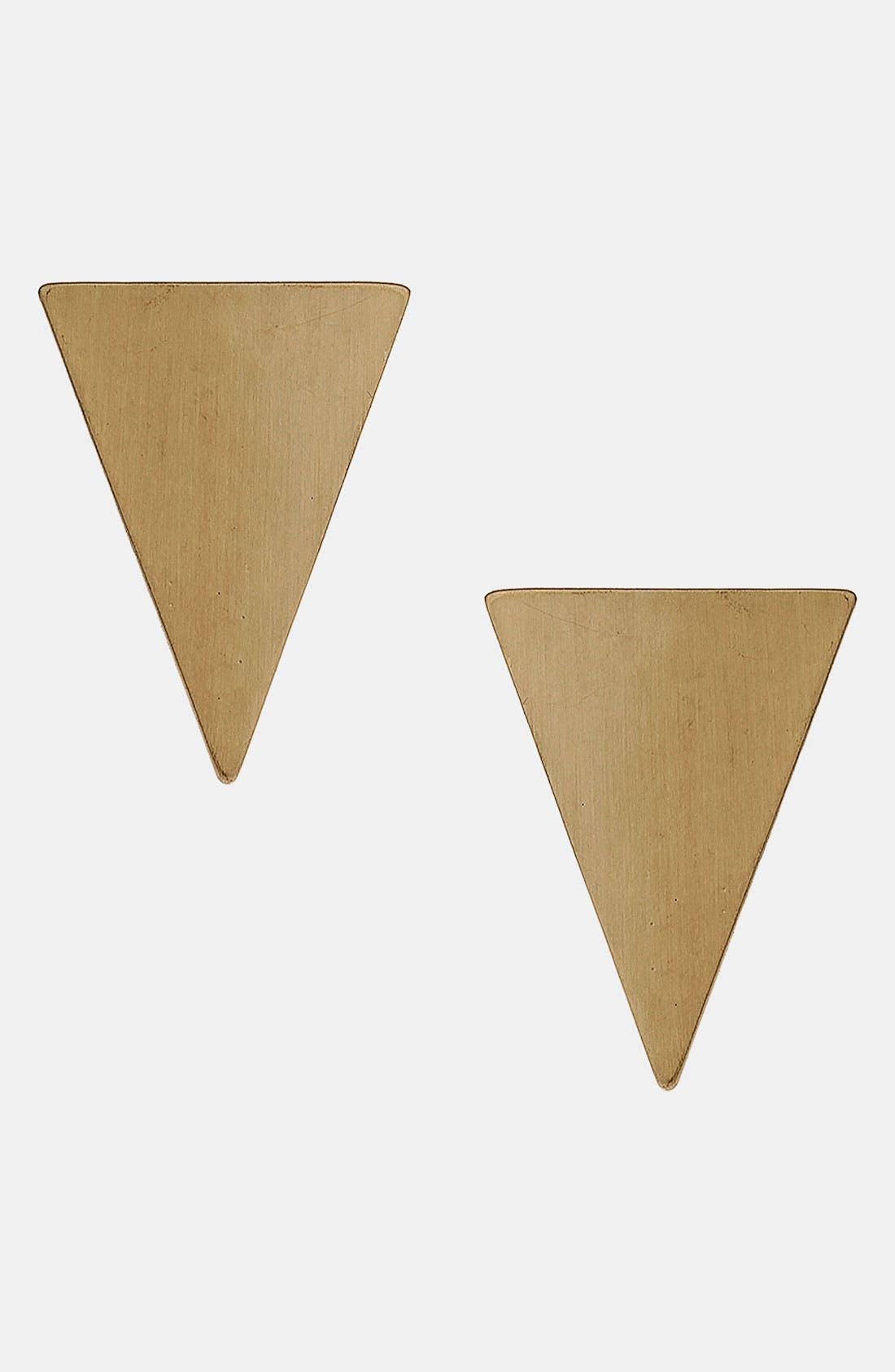 Main Image - Topshop Triangle Earrings