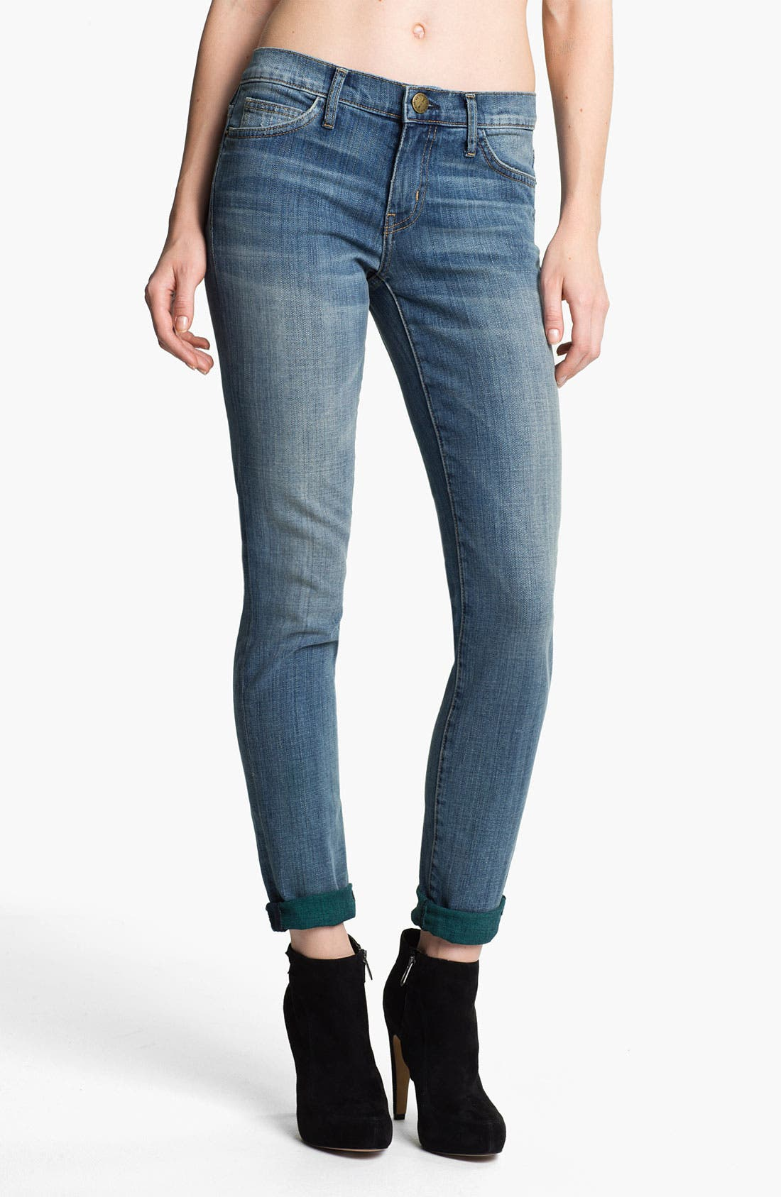 Main Image - Current/Elliott 'The Rolled' Stretch Jeans (Baltic Super)