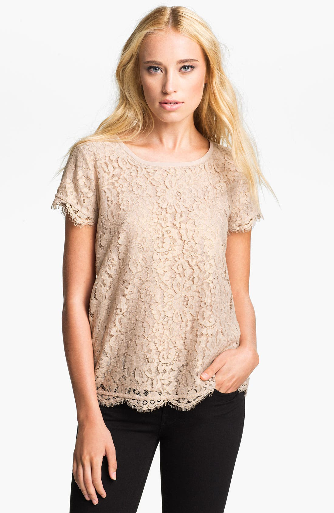 Alternate Image 1 Selected - Joie 'Marelia' Lace Top