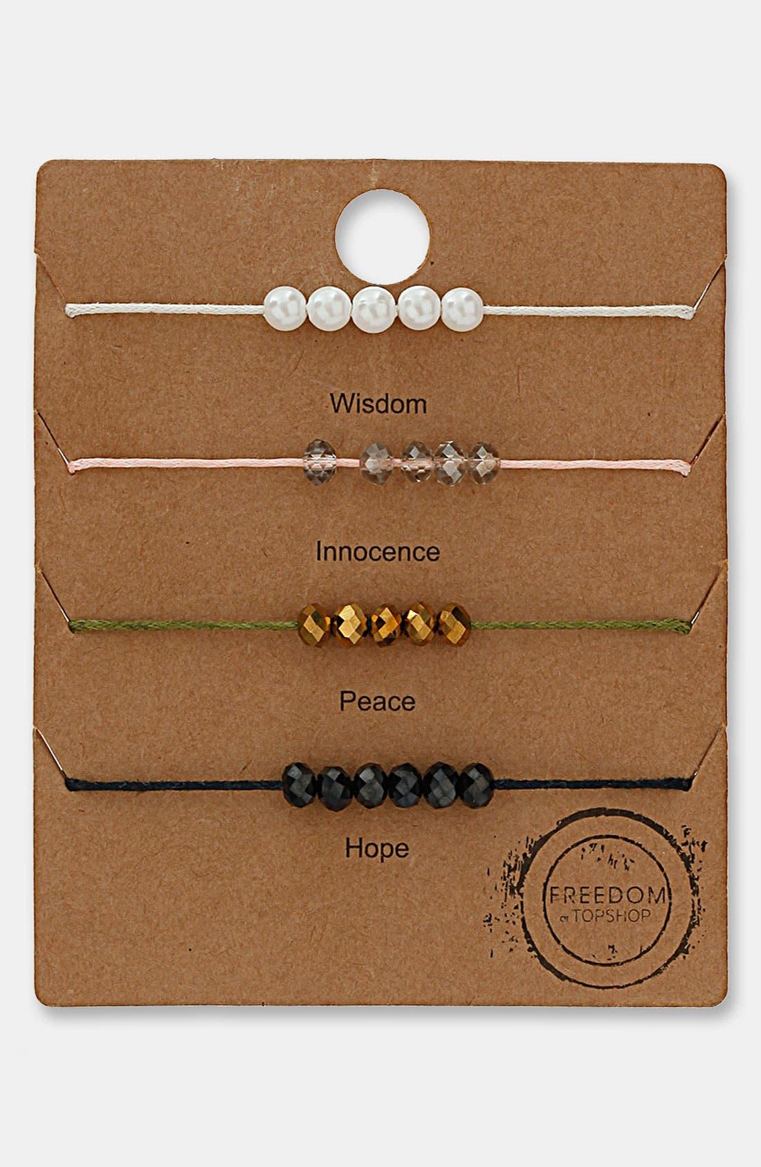 Alternate Image 1 Selected - Topshop Beaded Bracelets (Set of 4)