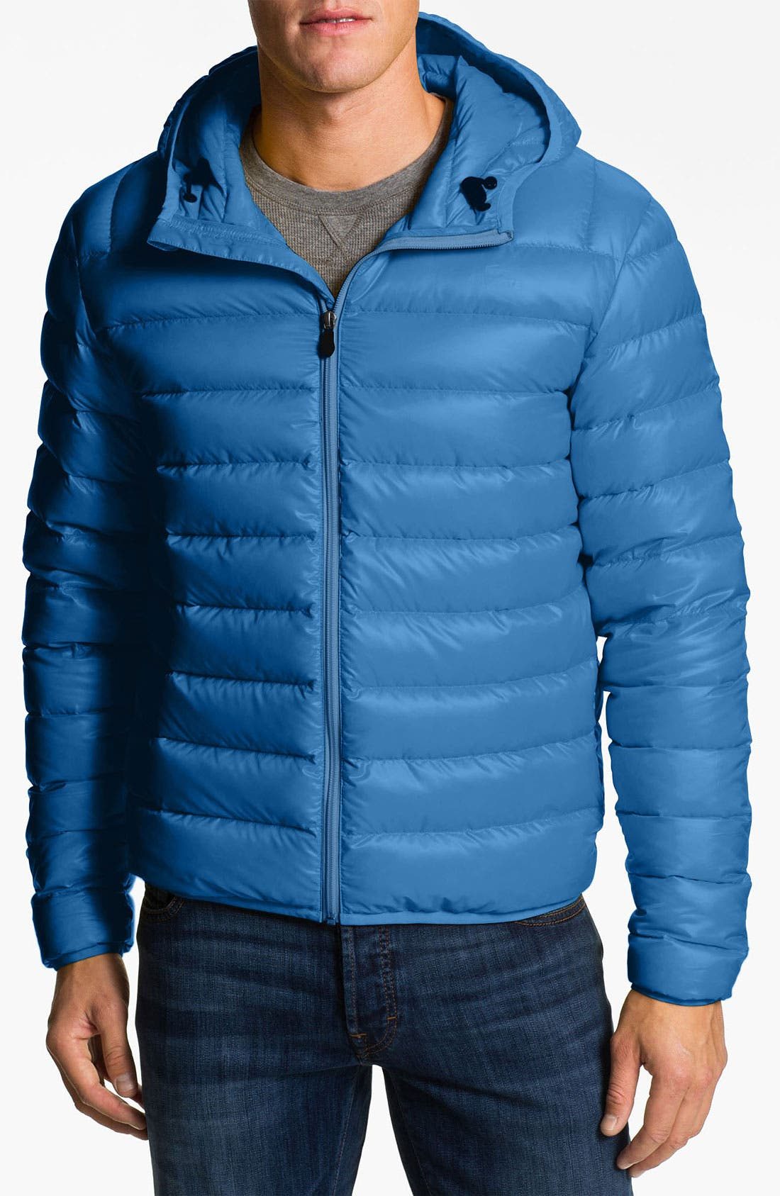 Alternate Image 1 Selected - Lacoste Hooded Down Jacket
